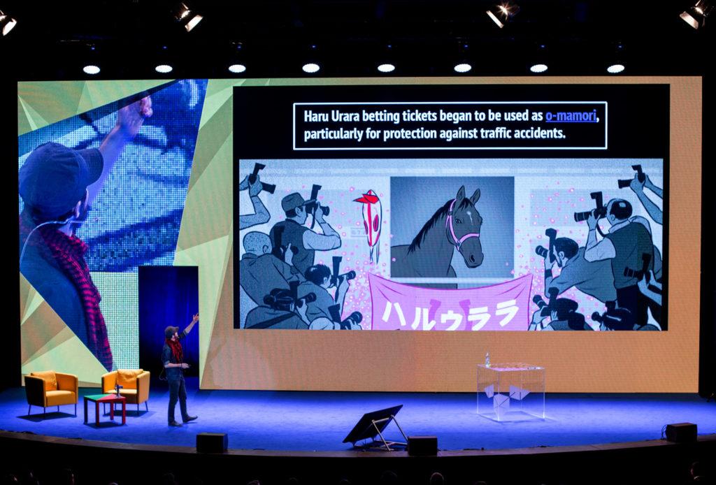 Nejznámější a nejhorší dostihový kůň Japonska - Haru Urara. (Zdroj: team MKT fest)