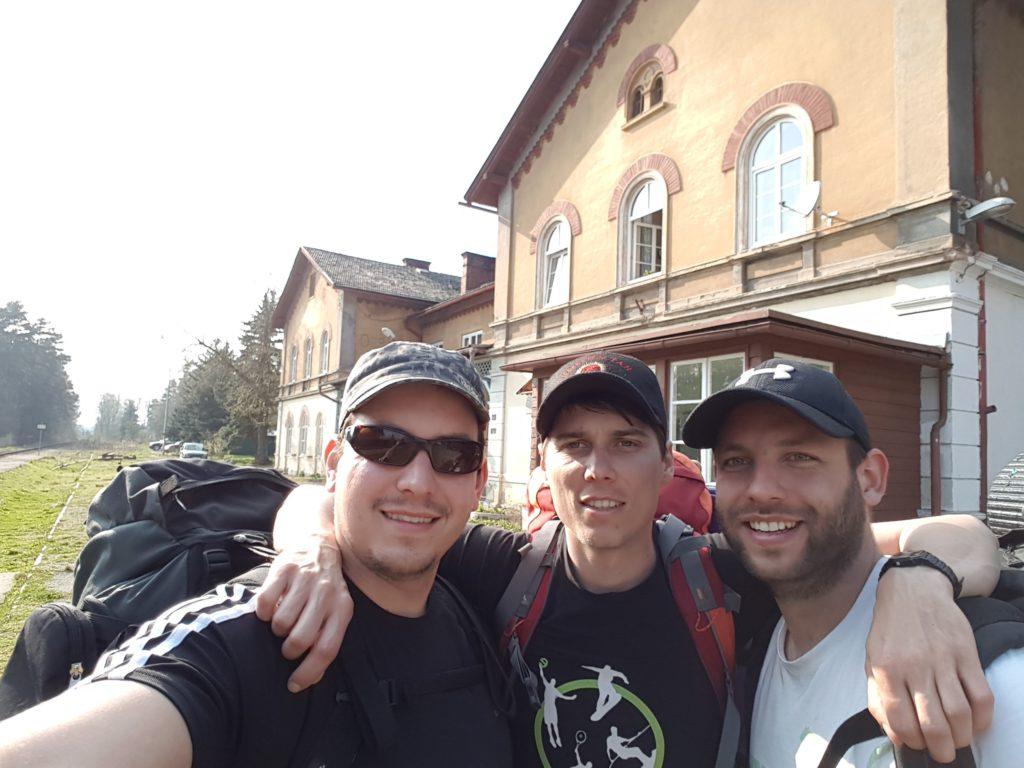 nádraží Zahrádky - selfie