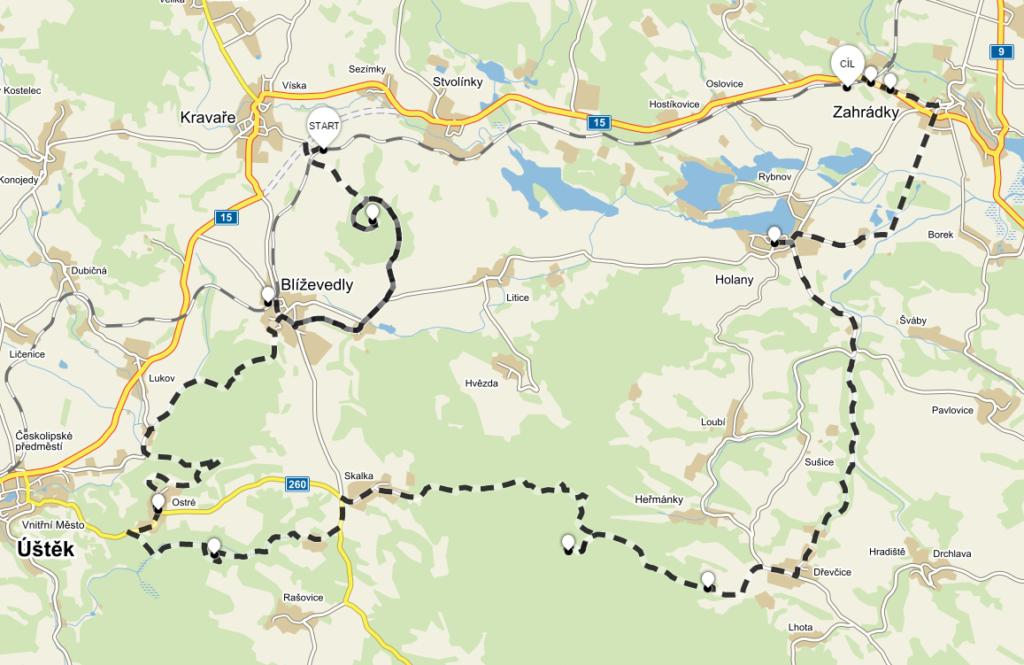 Trasa Vandru s Vonty - Máchův kraj